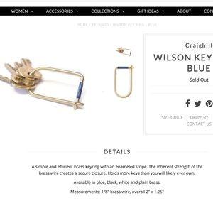 Kempton's Wilson Key Ring
